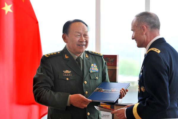 China's defense minister visits West Point