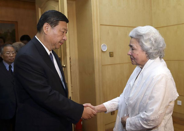 Xi expresses condolence to Cambodia's former queen