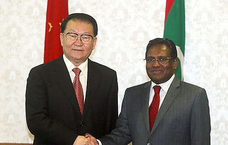 China, Maldives eye furthered cooperation
