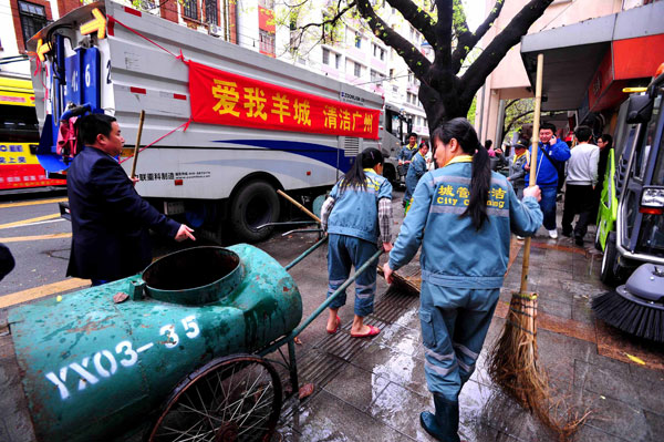 Sanitation workers win pay raise after protest