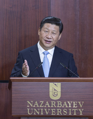 Xi proposes a 'new Silk Road' with Central Asia