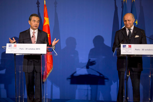 Chinese Foreign Minister visits Paris