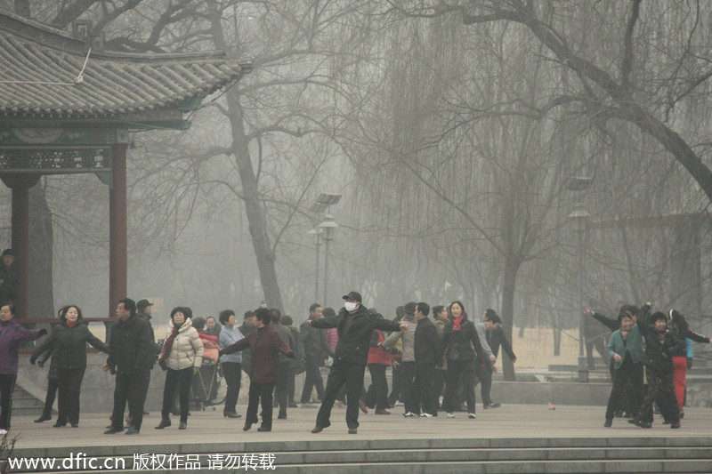 Top 10 cities with worst smog in China