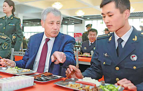 Hagel gets recipe of goodwill