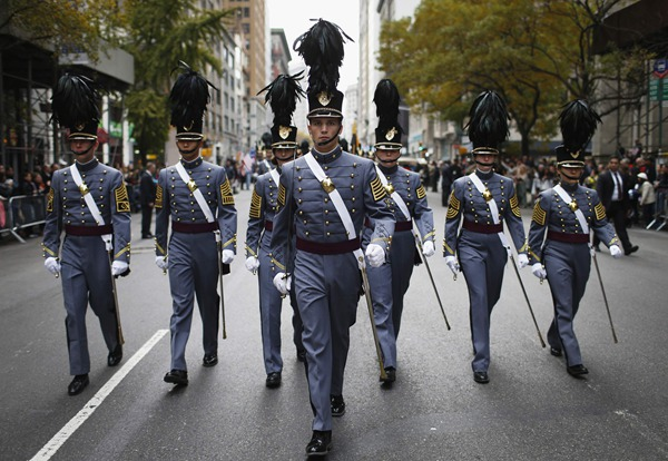 Veterans day parade in the US