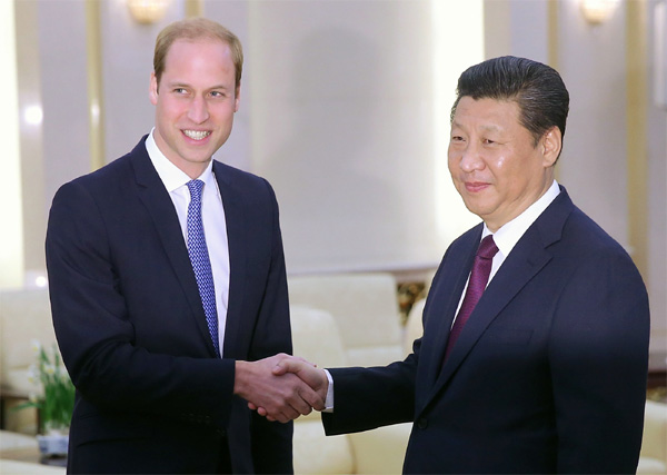 Xi gets royal invitation to visit UK during meeting Prince William