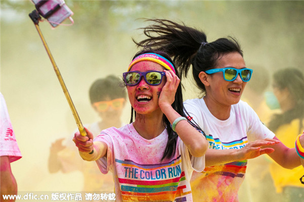 Sea of color at Shenzhen race