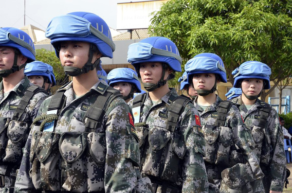 Last batch of Chinese peacekeeping infantry arrives in S.Sudan