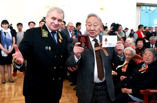 Russia honors Chinese veterans from WWII