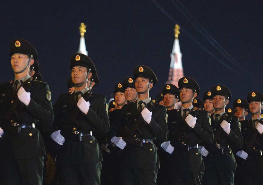 China joins rehearsal for Victory Day parade in Moscow