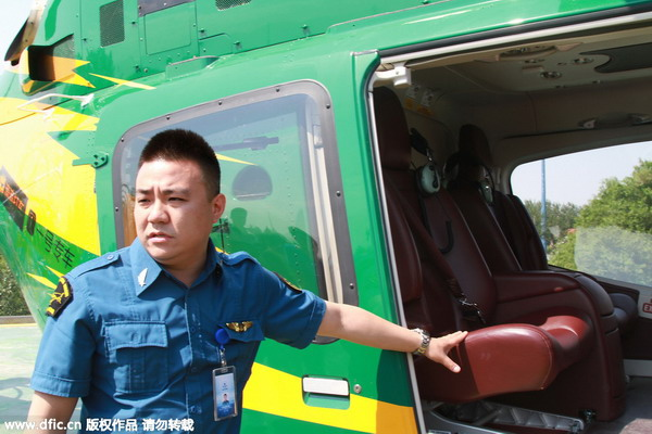 Helicopter-hailing app sees huge response for ride over Beijing