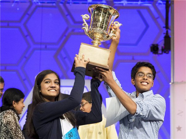 Spelling Bee ends in tie for 2nd year in US