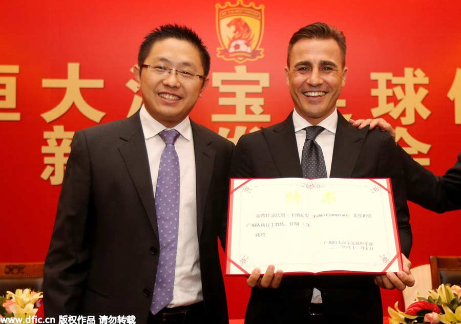 Cannavaro's Evergrande life in photos
