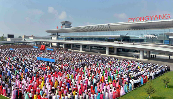 New, modern terminal of Pyongyang Intl Airport put into use