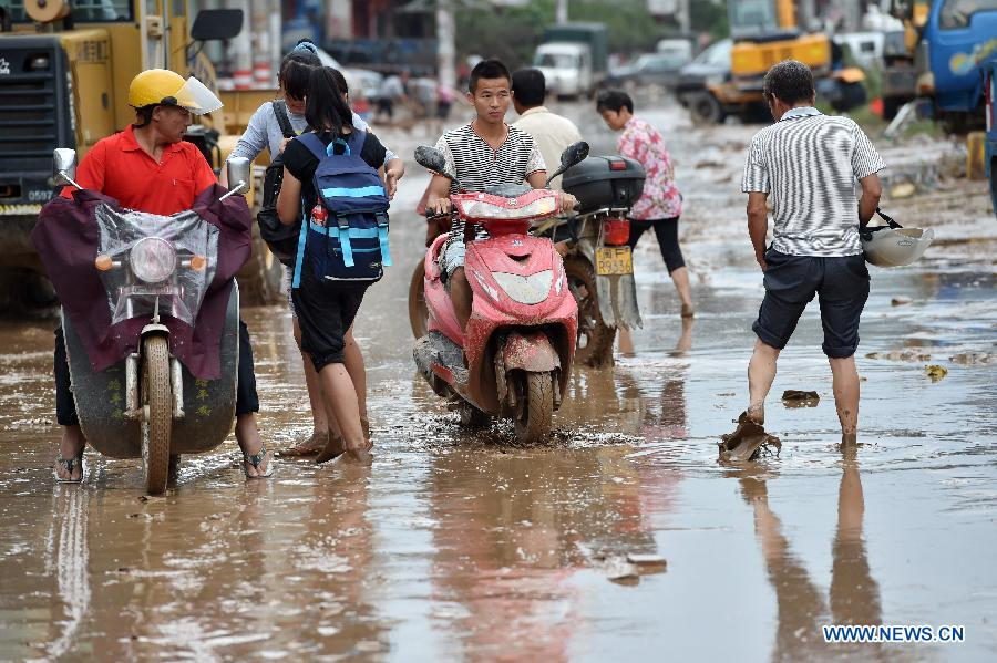 Six dead as rainstorms wreak havoc in China