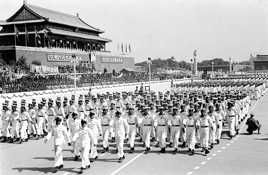 Historical images of military parades