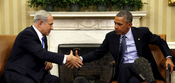 Obama, Netanyahu at White House seek to mend US-Israel ties