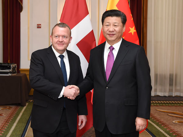 Xi calls for bigger progress in China-Denmark ties