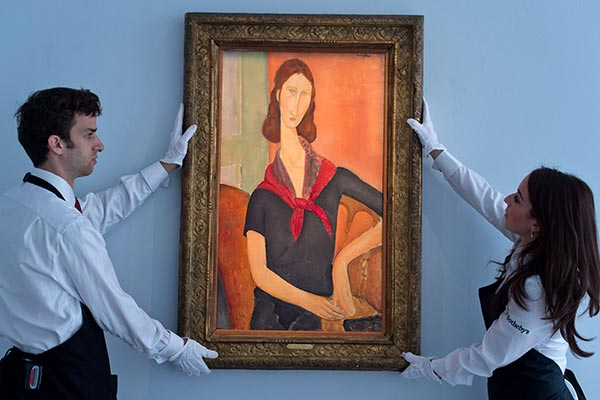 Love and tragedy highlight London art auction