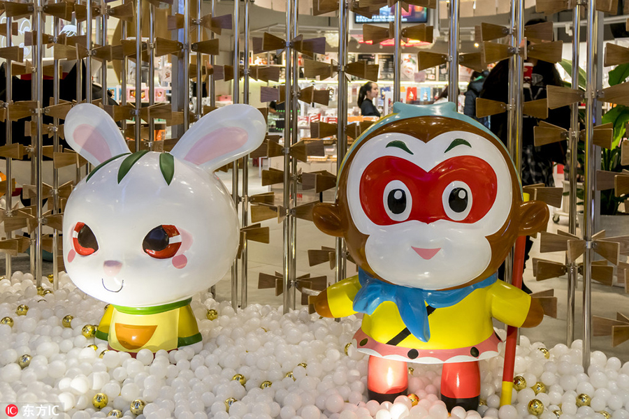 First Chinese cartoon characters theme shop opens in ...
