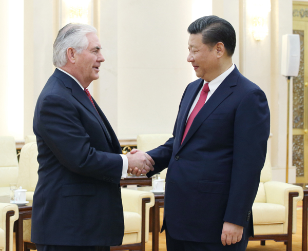 Cooperation is correct choice, Xi tells Tillerson