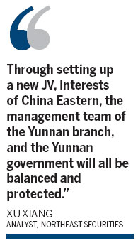 China Eastern to launch JV