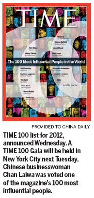 Chan among Time's 100 most influential