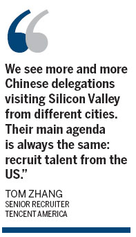 Tapping talent tops Tencent's wish list in US