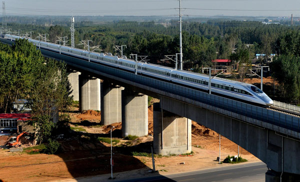 High-speed rail links Zhengzhou and Wuhan