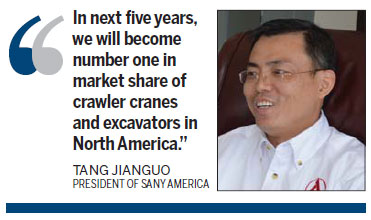 Sany does heavy lifting in pursuit of growth in US