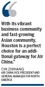 Air China to open nonstop flight to Houston