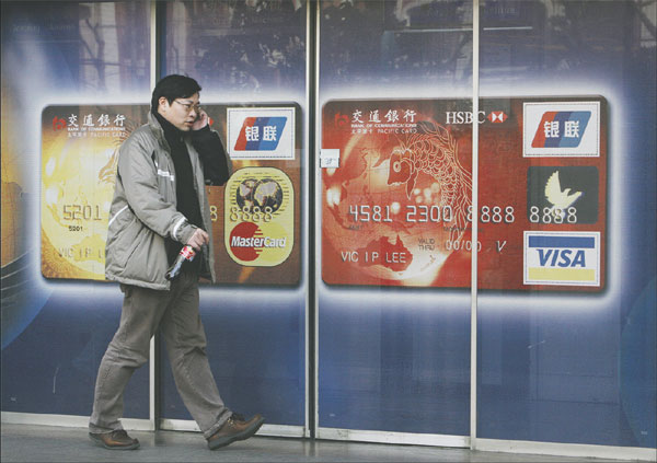 Payment cards big deal in China