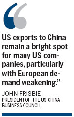 Chinese consumers push US exports higher