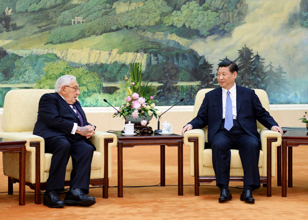 Xi meets former US heavyweights