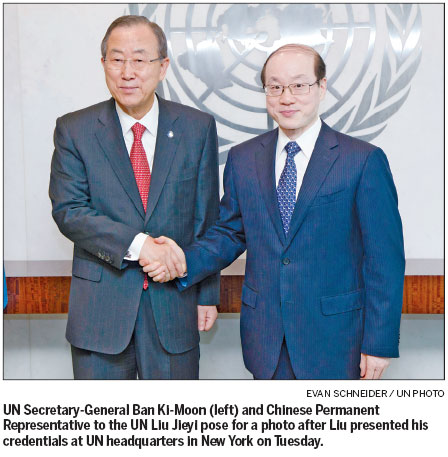 China's new UN envoy takes seat amid Syrian turmoil