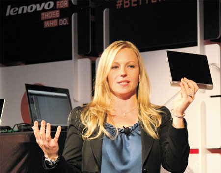 Lenovo profit surges on smartphone, tablet sales