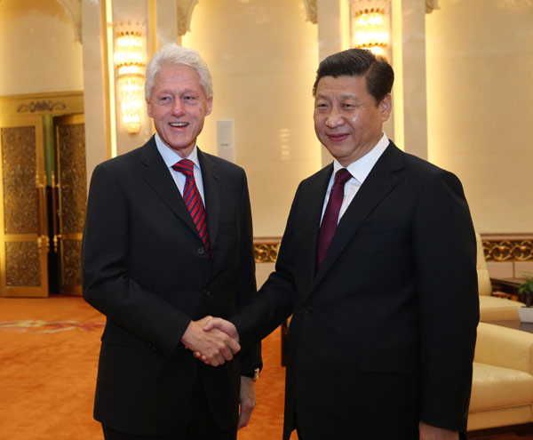 Xi thanks Clinton for furthering ties