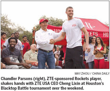 ZTE, Houston Rockets blast off promo deal