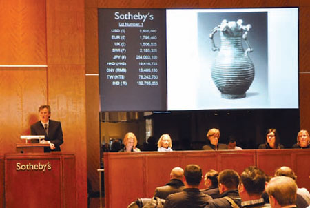 Sotheby's puts Chinese treasures on the block