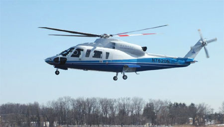 China certifies Sikorsky S-76D helicopter for 'growing' market