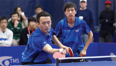 College ping pong lures Chinese students