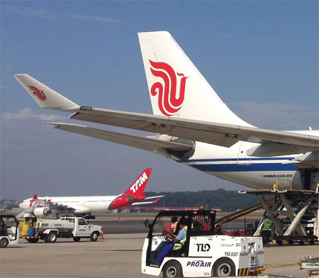 Air China moves in Sao Paulo
