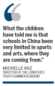 Chinese kids go to US summer camps