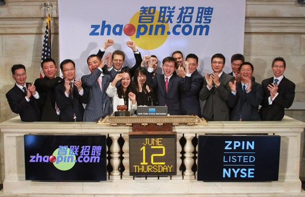 Zhaopin IPO raises $76m on NYSE
