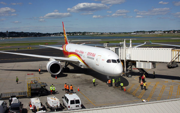 Hainan links Beijing-Boston direct
