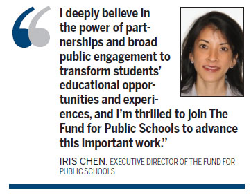 Iris Chen, former teacher, to run NYC schools' fund