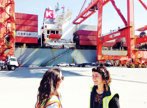 Artists inspired on cargo trip to China