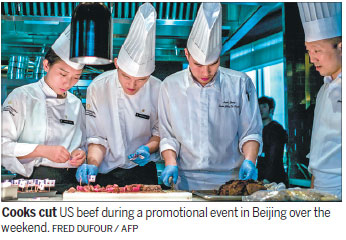 US beef proves big hit with Chinese shoppers