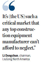Heavy-equipment makes moves in US market