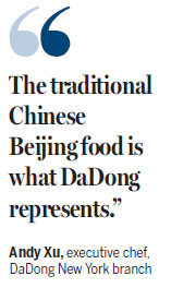 DaDong duck ready for New York opening